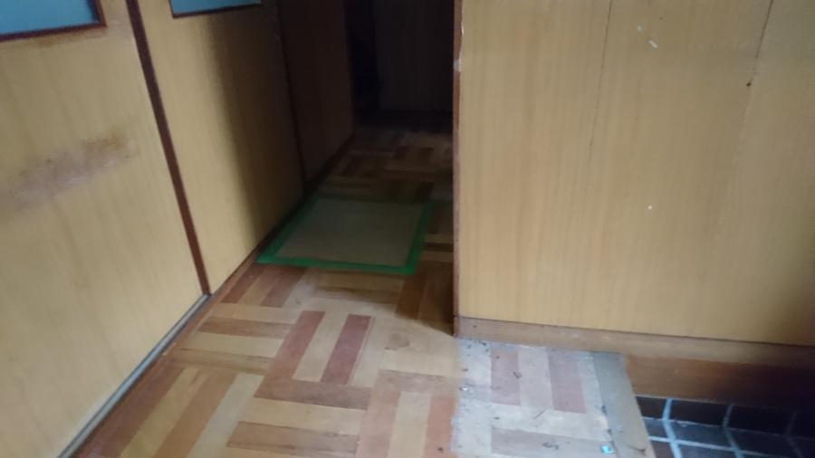 施工前の床