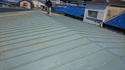 施工前 瓦棒屋根