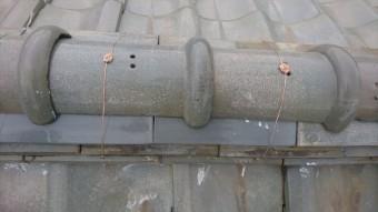 大東市 釉薬瓦、熨斗瓦差し替え工事