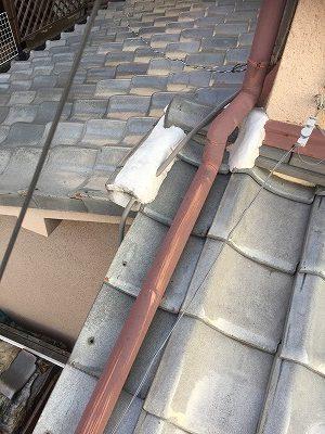 雨漏り箇所上部屋根