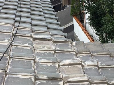 増築された屋根