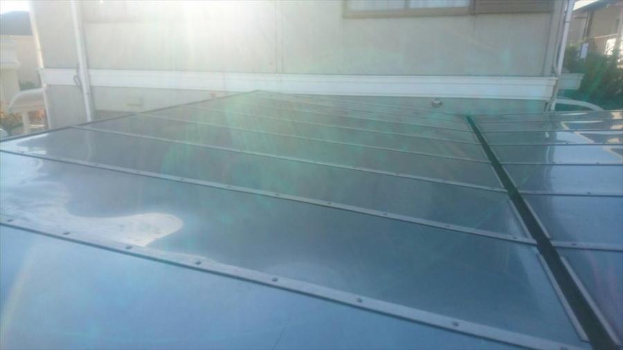 カーポートの屋根の修理完了