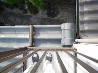 片棟部分はセキスイU瓦用棟瓦で仕舞がしてあります。