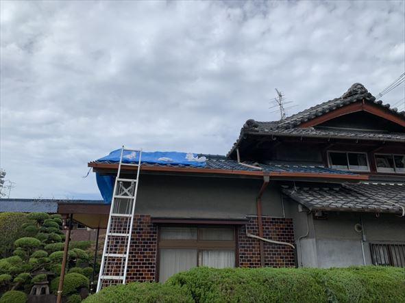 門真市 台風被害にあった屋根