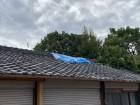 門真市  いぶし瓦屋根台風被害