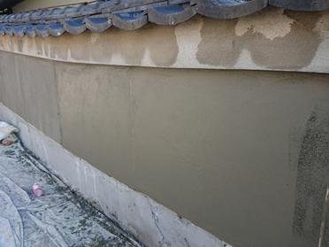 寝屋川市 塀の補修工事