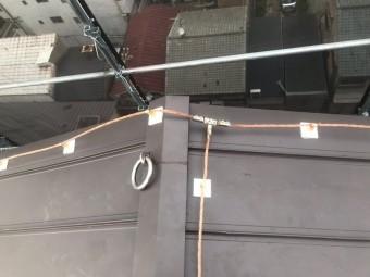 門真市 新規避雷導線取付