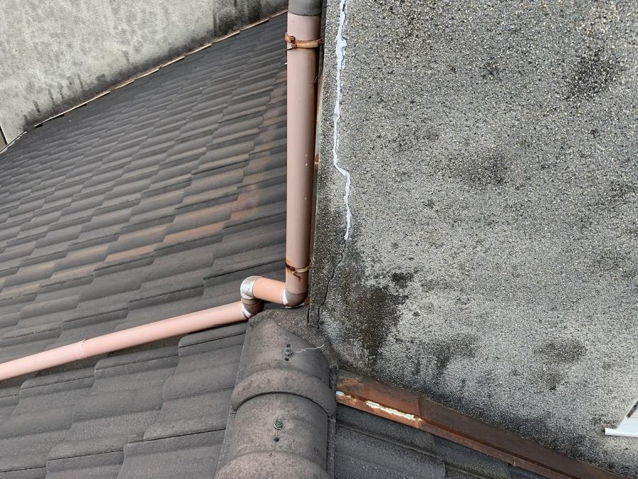 旭区外壁補修跡