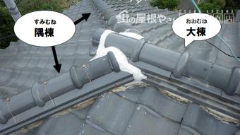 屋根部位 隅棟(すみむね)