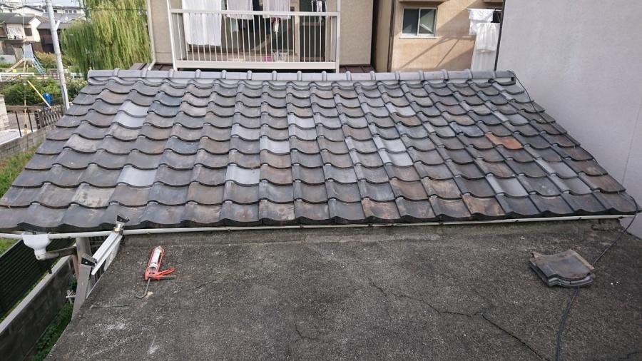 いぶし瓦屋根の補修工事完了