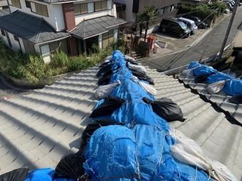 茨木市棟崩れ飛散