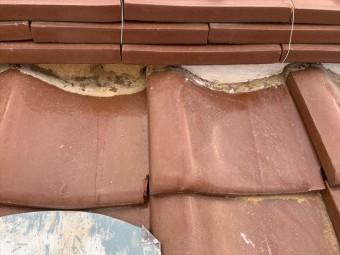 守口市 面戸漆喰解体と詰め作業