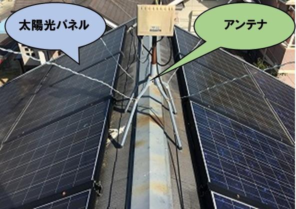 太陽光パネルとアンテナ設置
