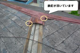 鉄釘の浮き