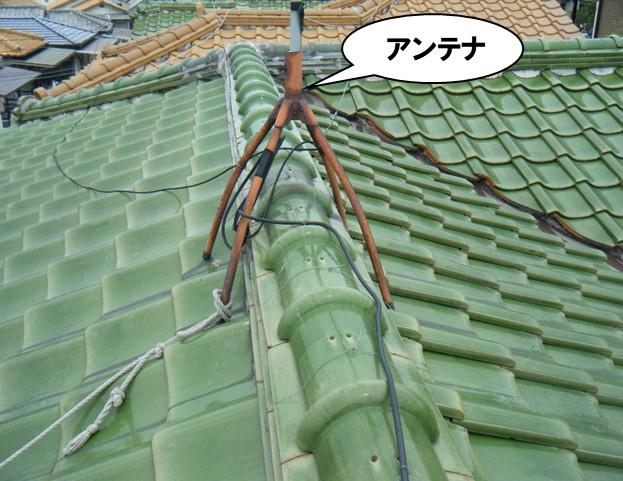 釉薬瓦屋根(うぐいす色)