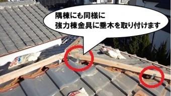 (隅棟)強力棟金具に垂木を取り付ける